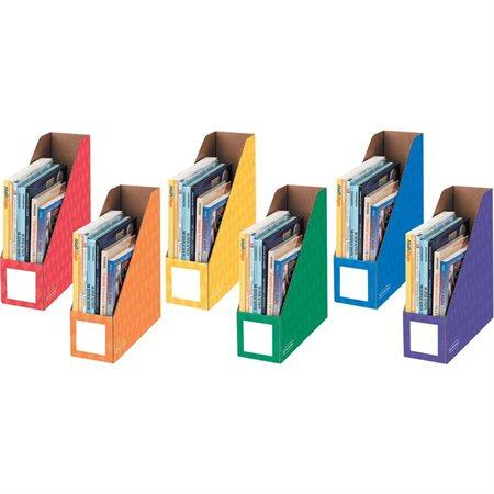 Classeur à revues décoratif Orange, jaune, rouge, vert, bleu, mauve (6) .