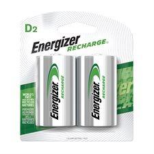 Piles rechargeables Recharge® 2 x D