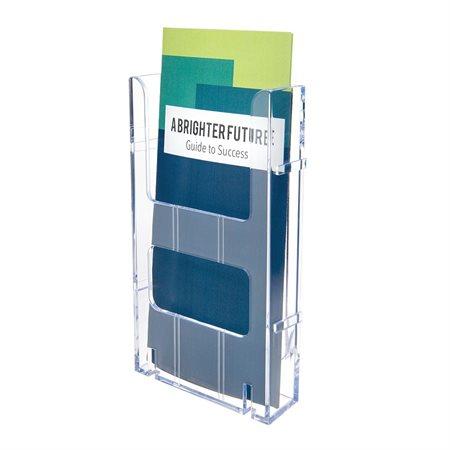 """Présentoir à documentation Lit-Loc® Pour dépliants. 4-3 / 8 x 1-1 / 4 x 8""""H."""