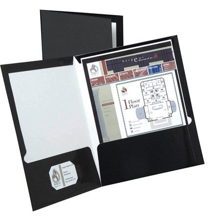 Couverture de présentation à double pochette Showfolio™ Paquet de 25 noir