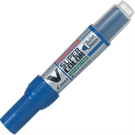 Marqueur permanent V Super Color Pointe conique bleu