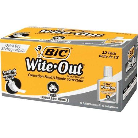 Liquide correcteur Wite-Out® Séchage Rapide Boîte de 12