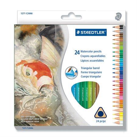 Crayons à colorier pour l'aquarelle; Ensemble de 24