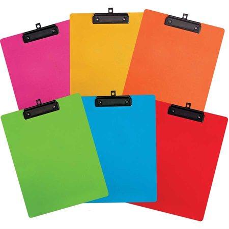 Planchette à pince couleurs variées