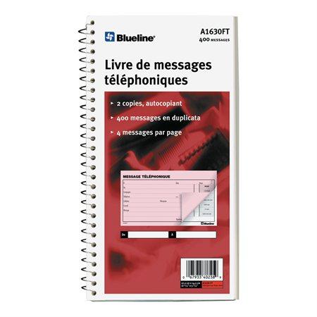 """Livre de messages téléphoniques 400 messages. 11 x 5-11 / 16"""". anglais"""