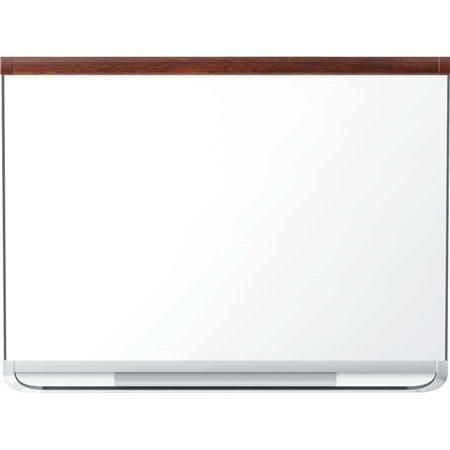 Tableau blanc effaçable à sec en porcelaine Prestige® 2 Cadre acajou 48 x 36 po
