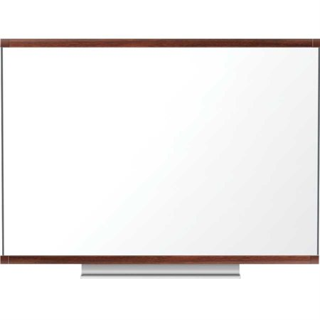 Tableau blanc effaçable à sec Total Erase® Prestige® 2 Cadre acajou 96 x 48 po