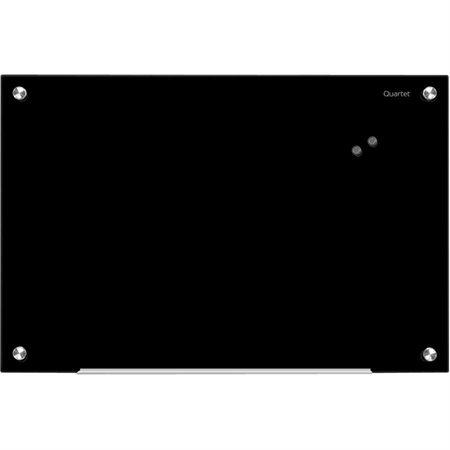 Tableau en verre effaçable à sec Infinity™ Magnétique, 36 x 24 po noir