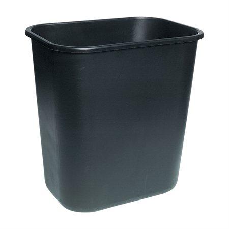 "Deskside Wastebasket Medium, 26.6L, 14-1 / 4 x 10-1 / 4 x 15""H black"