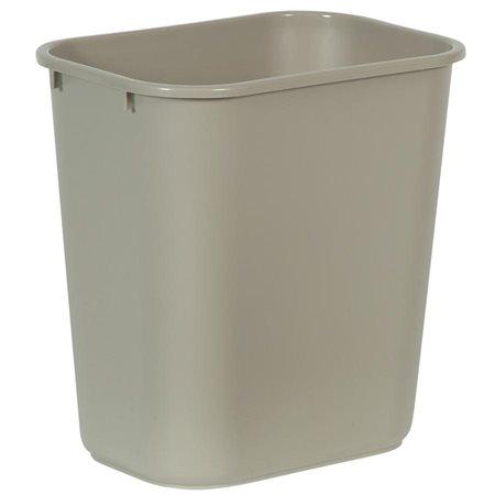 """Deskside Wastebasket Medium, 26.6L, 14-1 / 4 x 10-1 / 4 x 15""""H beige"""