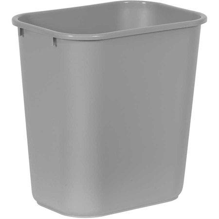 "Deskside Wastebasket Medium, 26.6L, 14-1 / 4 x 10-1 / 4 x 15""H grey"