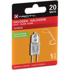 Ampoule halogène À l'unité T3, 20 watt
