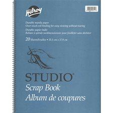 """Album de coupures Studio® 14 x 11"""", 20 feuilles."""
