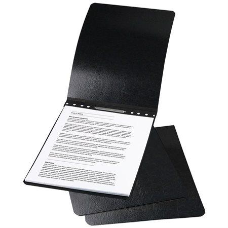 """Couverture de présentation en carton comprimé Relié par le haut, 8-1 / 2 x 11"""". 2-3 / 4"""" centre. Cap noir"""