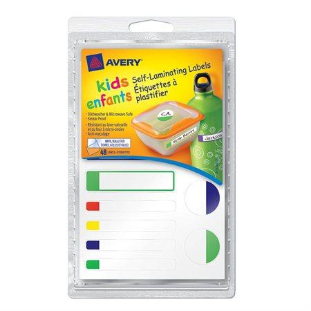 Étiquettes à plastifier pour enfants