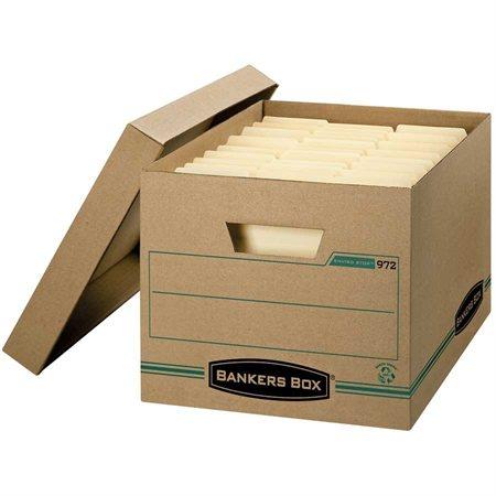 """Boîte de classement Enviro-Stor™ 12  x 15  x 10""""H. Empilable jusqu'à 350 lb format lettre / légal"""