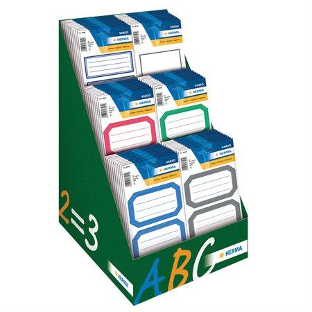 Paper School Label Display