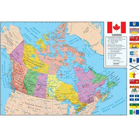 Geopolitical Canada Map