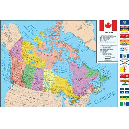 Map Of Canada Jpg.Plastic Coated Canada Map