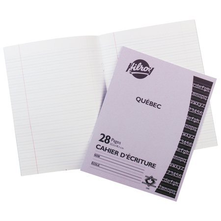 Quebec Interlined Dotted Lines Writing Book