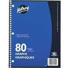 Cahiers à anneaux quadrillés, 80 pages