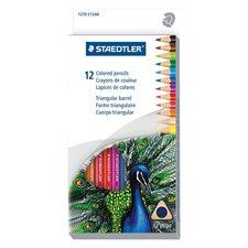 Crayons de couleur triangulaire en bois