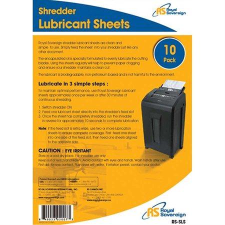 Feuilles lubrifiantes RS-SLS