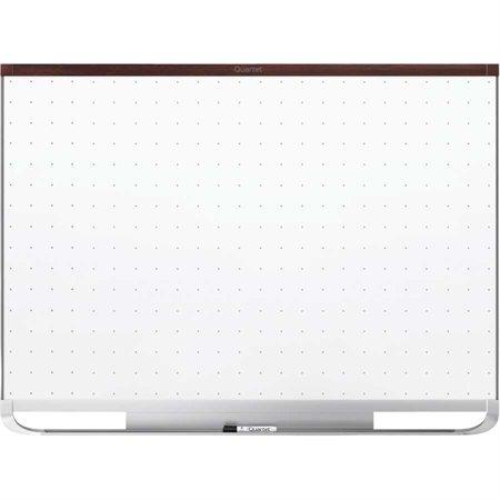 Tableau blanc effaçable à sec magnétique Total Erase® Prestige 2® Cadre acajou 48 x 36 po