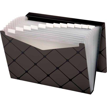 Classeur expansible avec rabat escamotable 13 pochettes gris