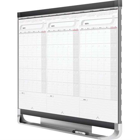 Tableau blanc effaçable à sec calendrier magnétique Prestige® 2 3 mois 36 x 24 po