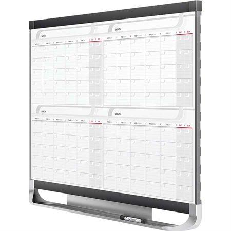 """Tableau blanc effaçable à sec calendrier magnétique Prestige® 2 4 mois 48 x 36"""""""