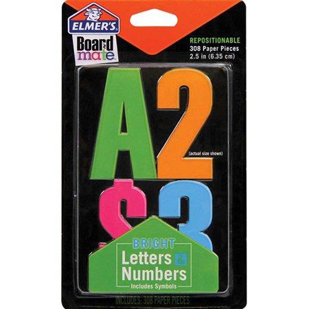 Lettres et chiffres repositionnables BoardMate™ couleurs vives