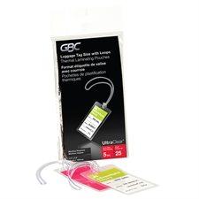 Pochette de plastification HeatSeal® UltraClear™ 5 mil. Boîte de 25. étiquette de bagages avec boucle