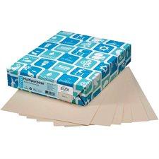 """Papier de couleur à usages multiples EarthChoice® Format lettre - 8-1/2 x 11"""" tan"""