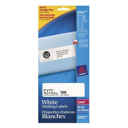 Étiquettes de classement blanche