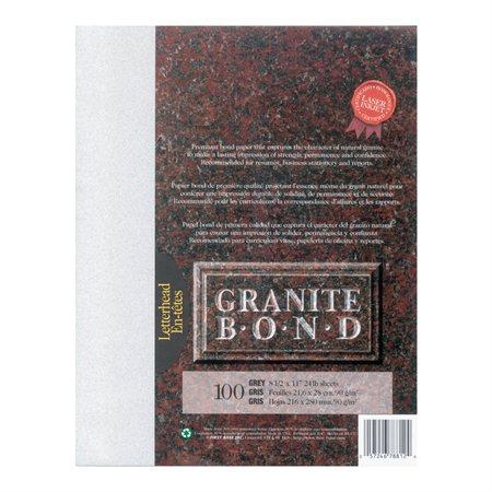 Papier Granite Bond Paquet de 100 gris