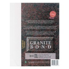 Papier Granite Bond Paquet de 100 blanc