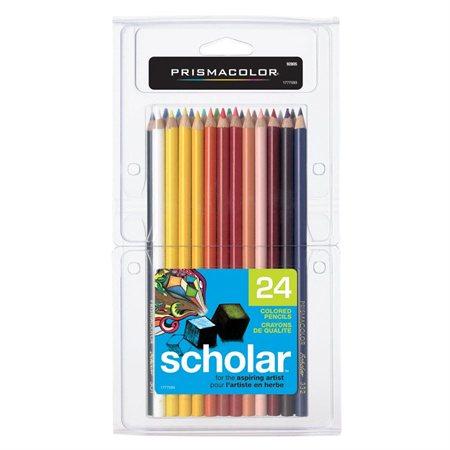 Crayons à colorier en bois Prismacolor® Scholar boîte de 24