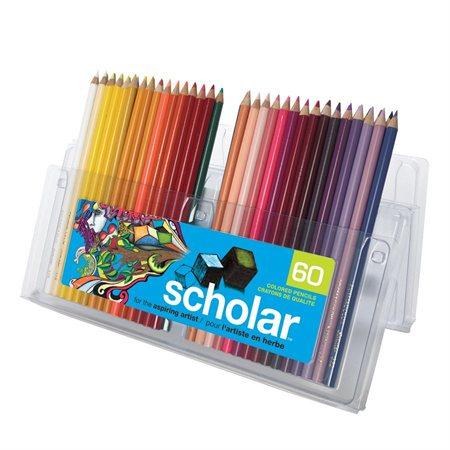 Crayons à colorier en bois Prismacolor® Scholar boîte de 60