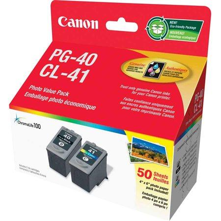 Emballage double de cartouches jet d'encre PG-40 / CL-41