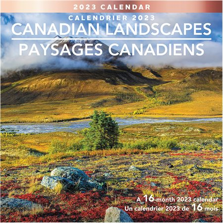 Calendrier mural paysages canadiens (2021)