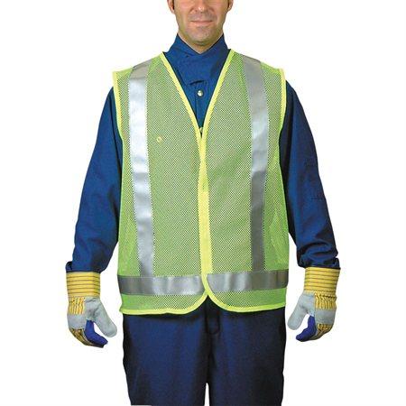 Veste de circulation Lime avec bandes argentées X-grand