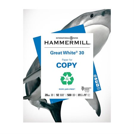 Great White® 30 Recycled Copy Paper