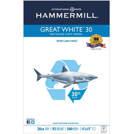 Papier pour copie recyclé Great White® 30 11 x 17""