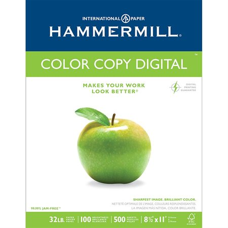 Papier Hammermill Color Copy Digital 32 lb. Paquet de 500. lettre