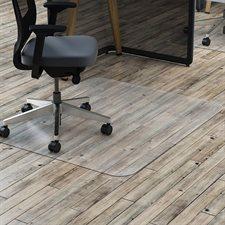 """Dessous de siège en polycarbonate Pour plancher dur, sans crampon. 45 x 53"""""""