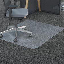 """Dessous de siège en polycarbonate Pour tapis, avec crampons. 45 x 53"""""""