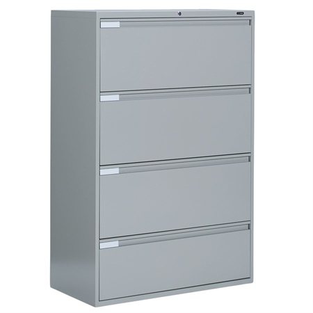 Fileworks® 9300 Plus Lateral Filing Cabinets 4 drawers grey
