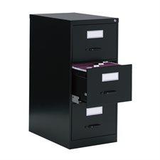 Classeurs verticaux Fileworks® 2600 3 tiroirs, format légal noir