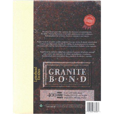 Papier Granite Bond Paquet de 400 ivoire